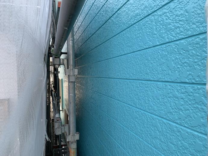 外壁 上塗り完了 【向敷地松本邸】.jpg