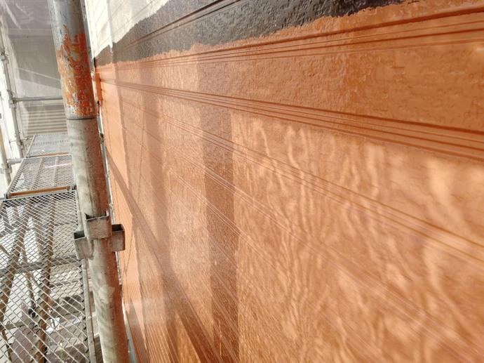 外壁 1F 上塗り完了【ハニーハウス】.jpg