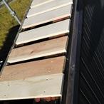 屋根笠木の改修工事(アパート)